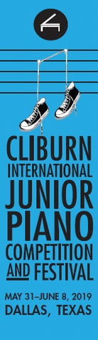 Cliburn Junior Bookmark, Blue