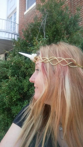 Seashell Unicorn Crown