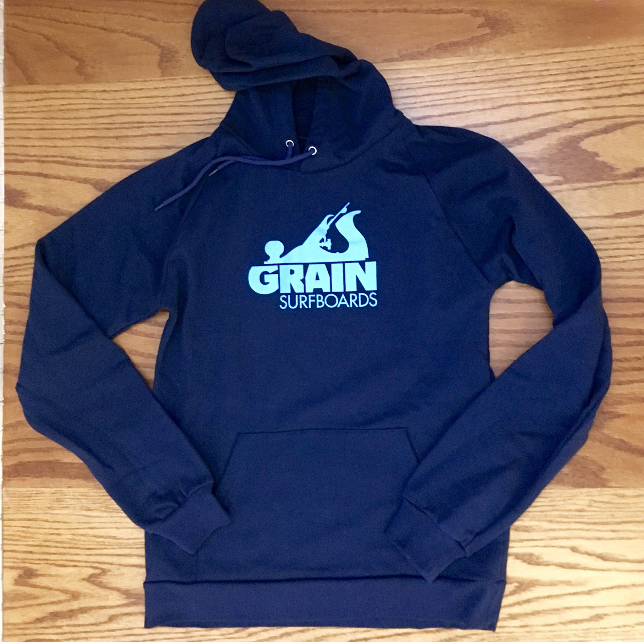 Limited Edition Grain Pullover Logo Hoodie - Dark Blue