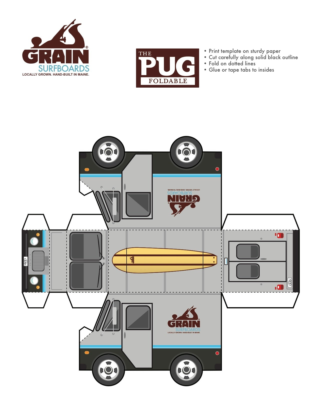 Free Download- The Pug Foldable