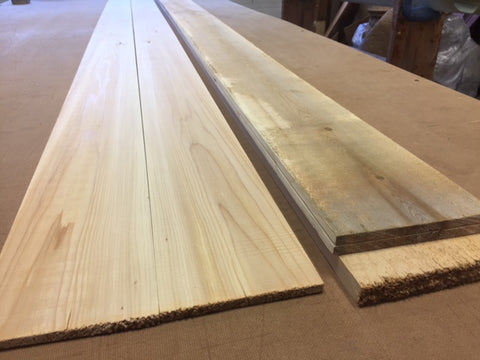 Milled Bookmatched Cedar Planks