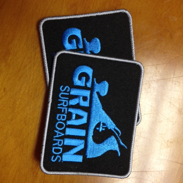 Grain Logo Patch Set- Blue on Black