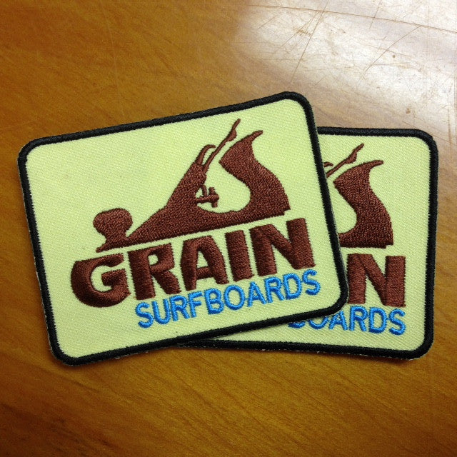 Grain Logo Patch Set- Brown & Blue on Yellow