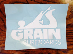 Grain Logo Die Cut Sticker