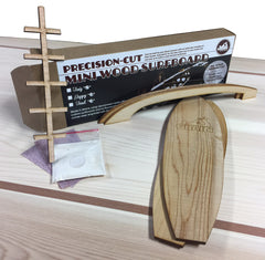 Mini Hollow Wooden Surfboard Kit- Fish, Mini-Sim or Fun Board
