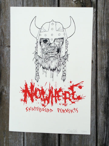 Nowhere Viking print