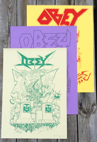 Barf Comics x OBEY prints
