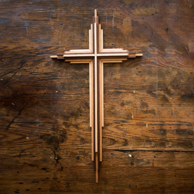 Two-foot-tall wooden cross for sale