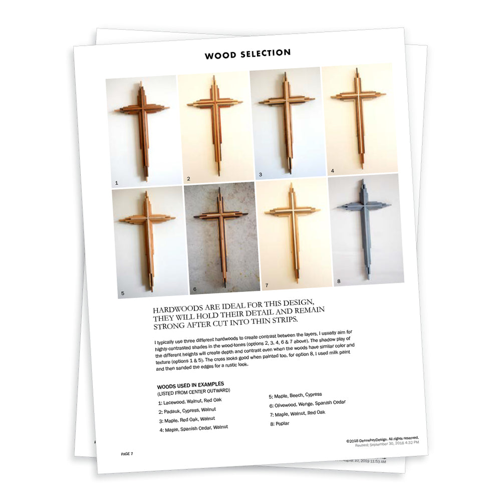 Colorful Wooden Crosses Three