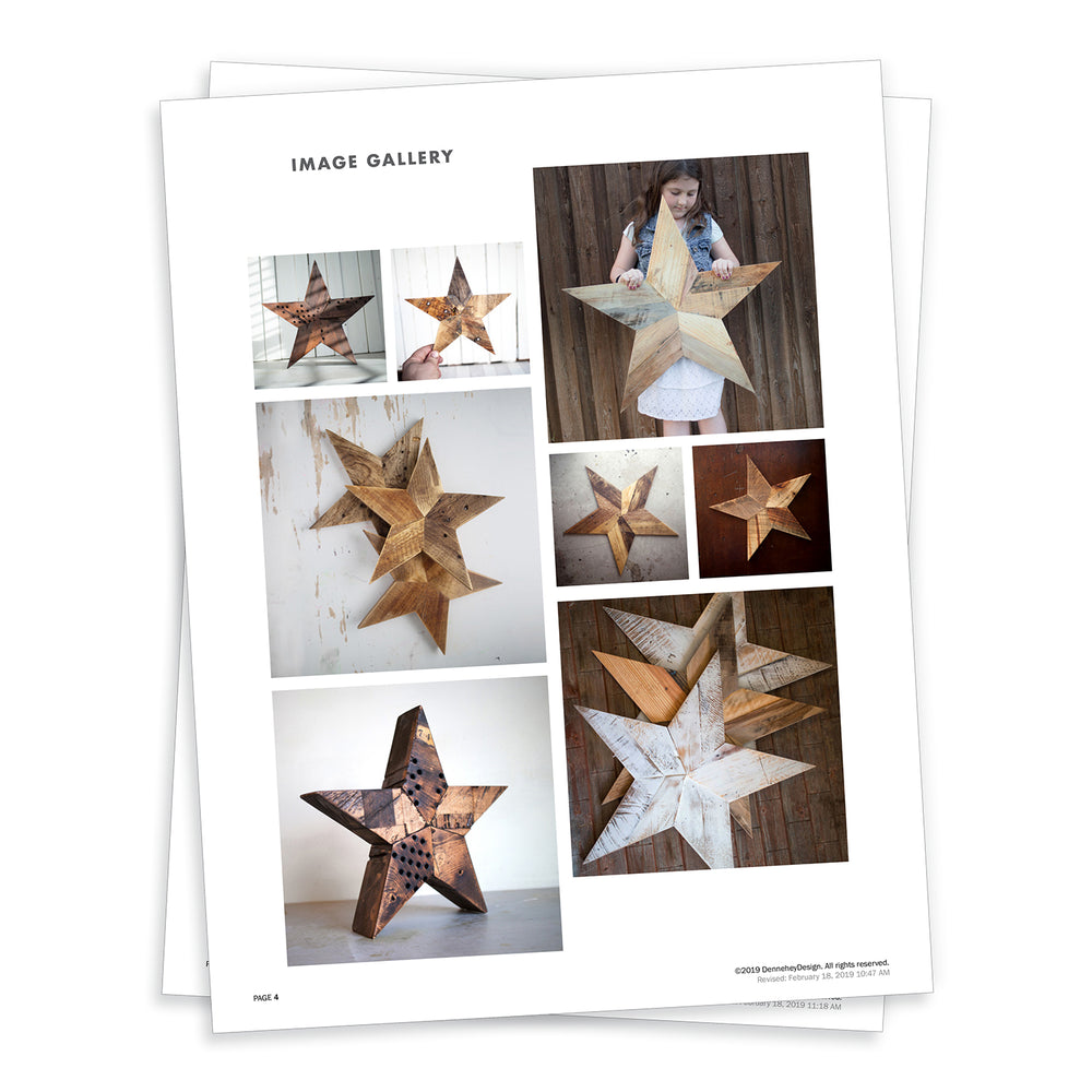 Rustic wood star template