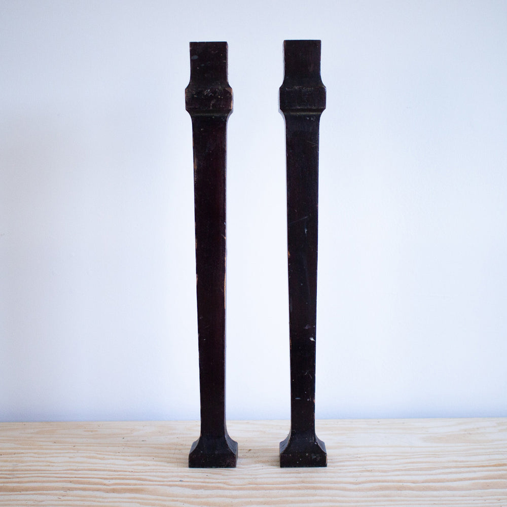 Pair of Profiled Piano Legs