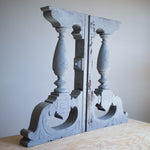Ornate Piano Keybed Supports