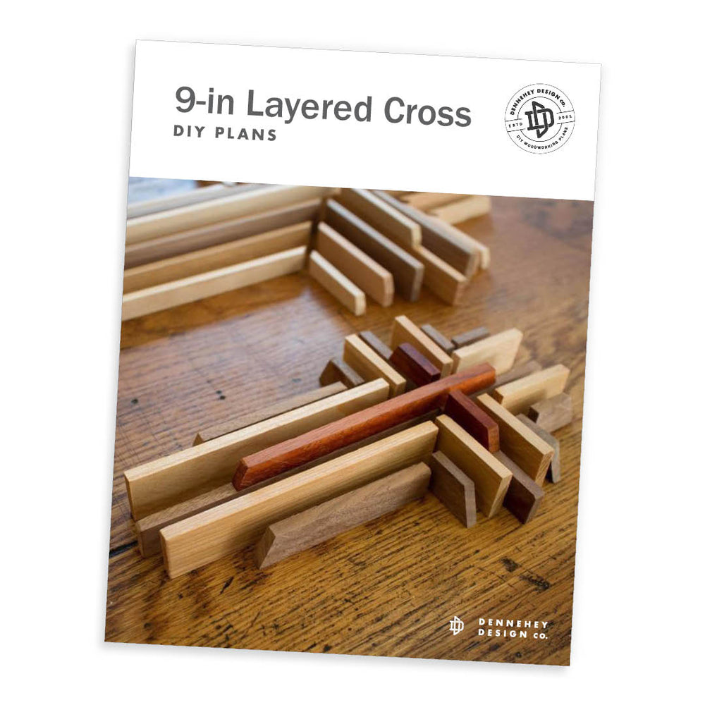 DIY 9-inch Layered Cross Plans