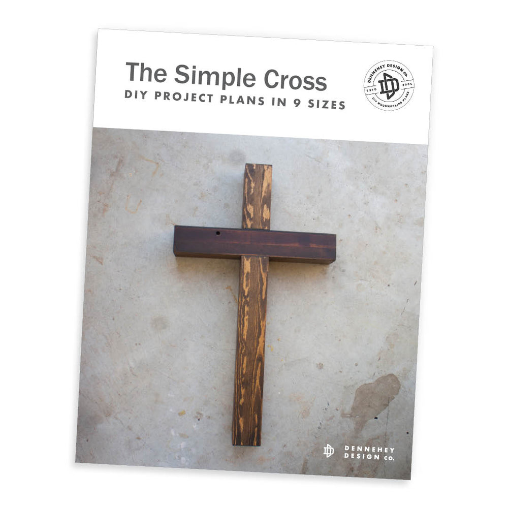Simple Woodworking Cross Project
