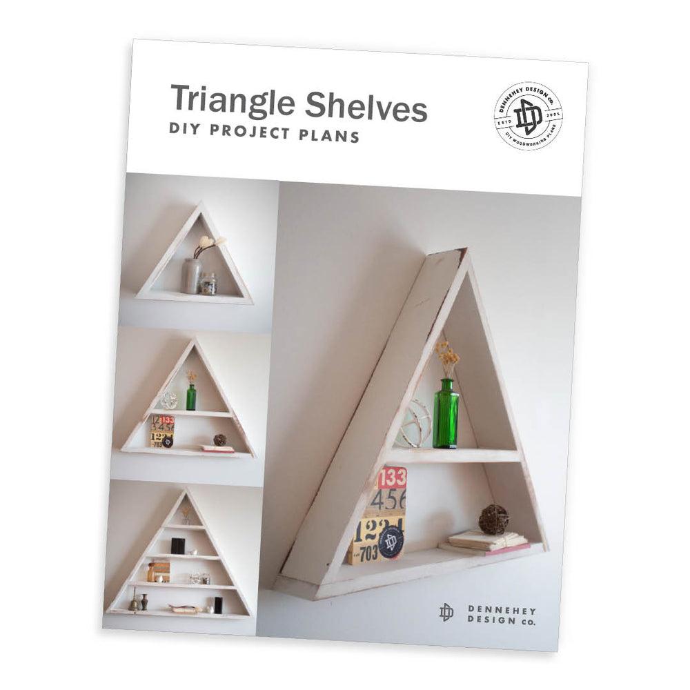 Triangle Shelves Project Plans