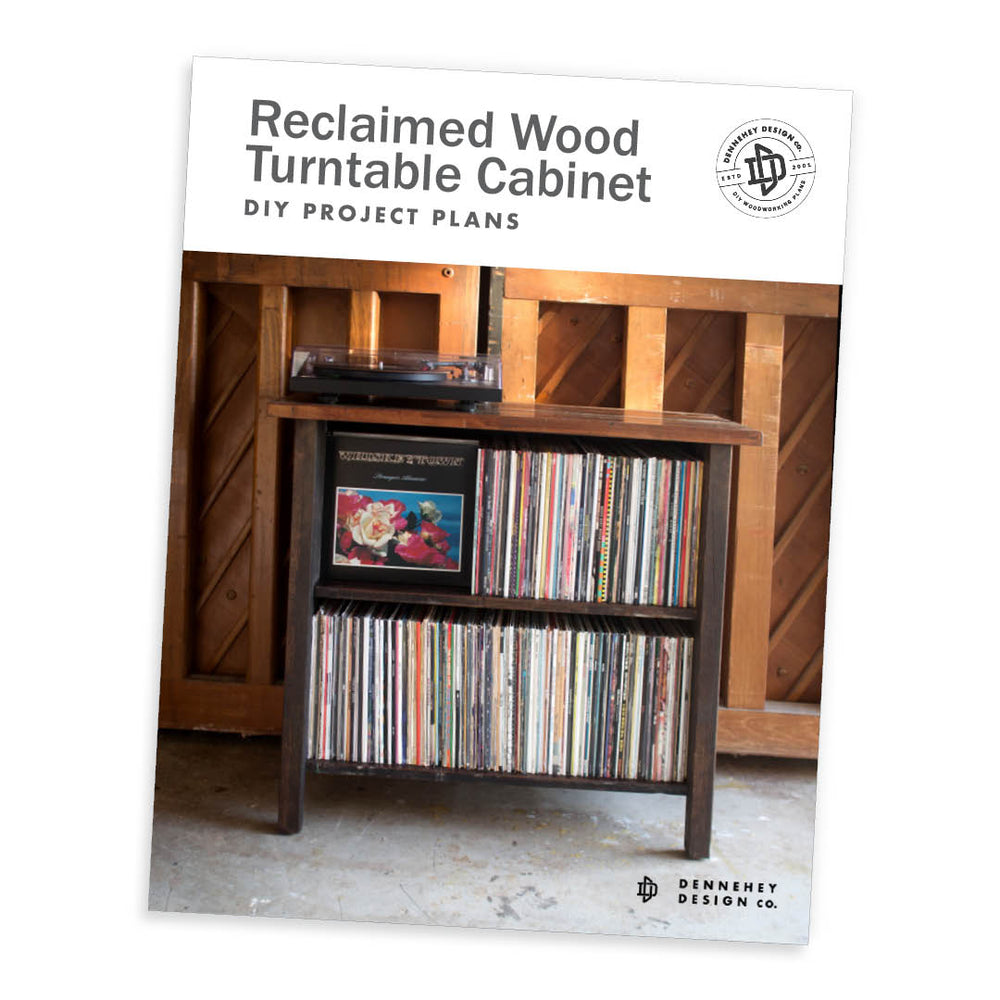Reclaimed Wood Turntable Stand DIY Plans