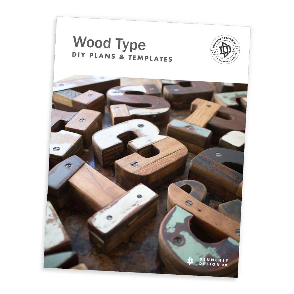 Wood Type DIY Plans and Templates