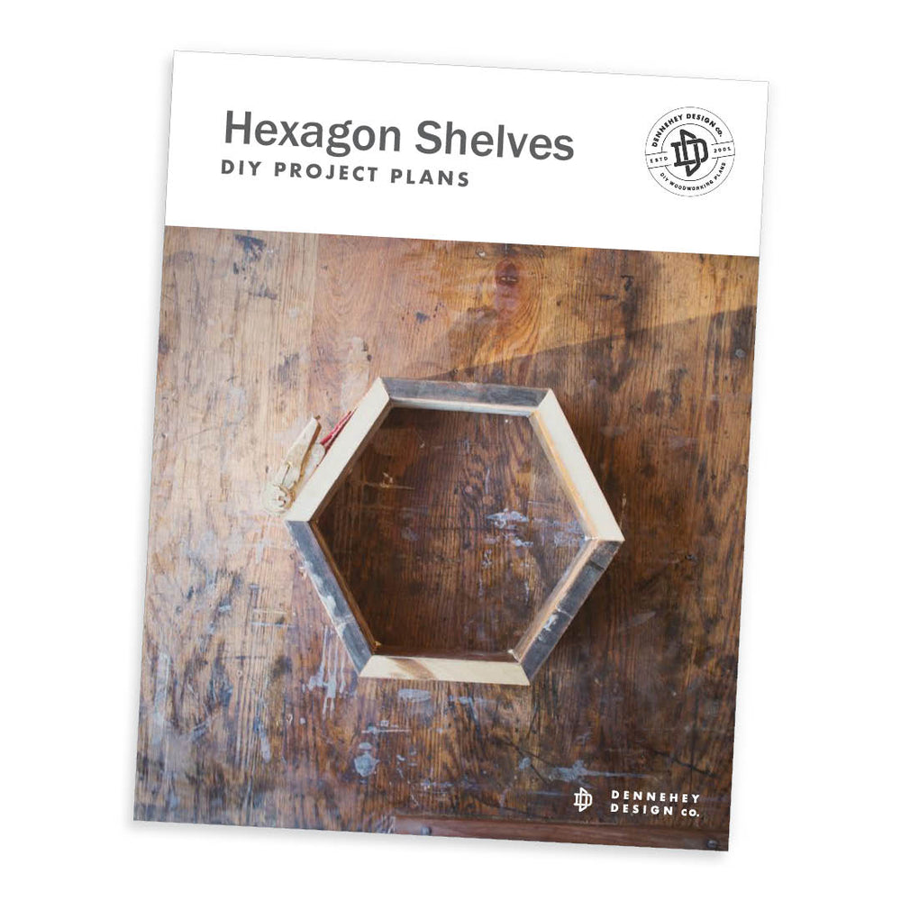 DIY Plans for Hexagon Shelves
