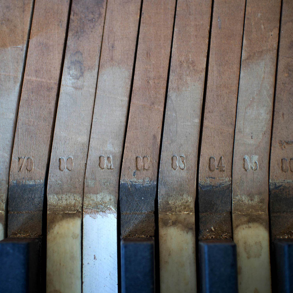 Hand-Stamped Piano Keys