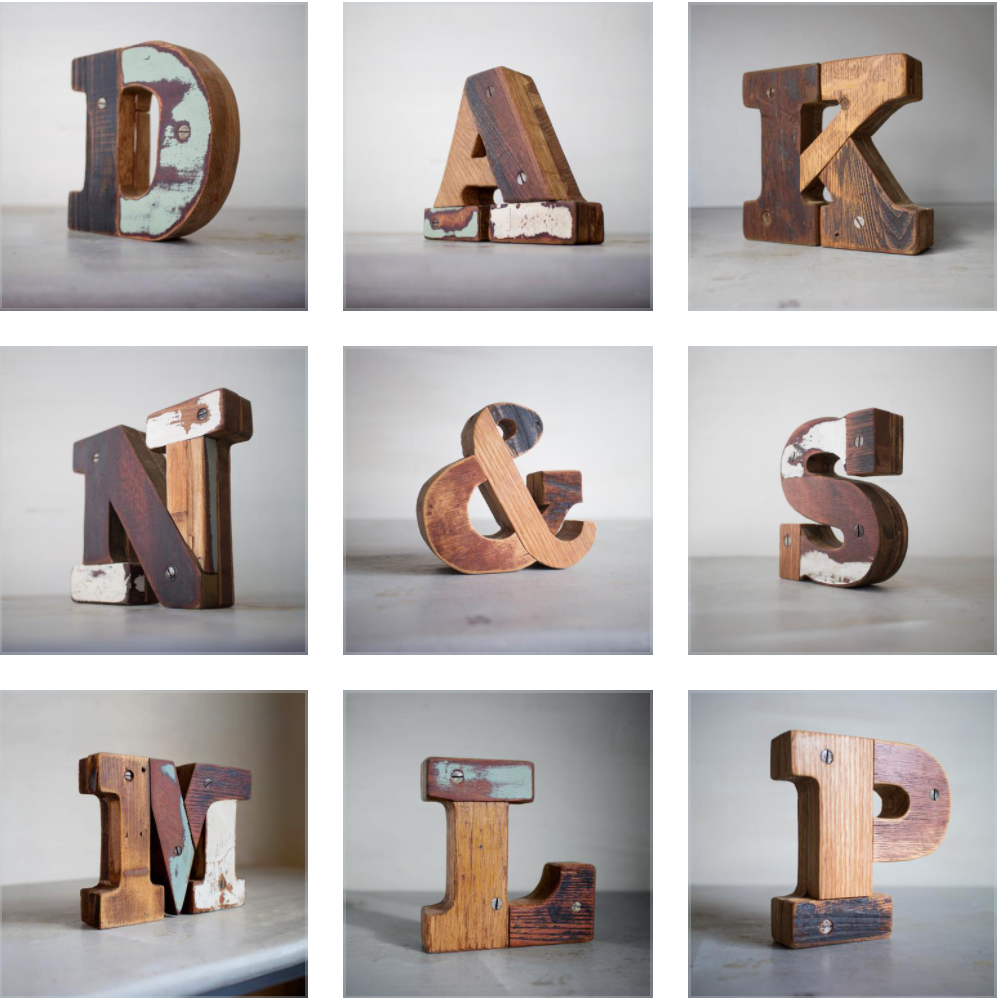 custom wooden letters wood type