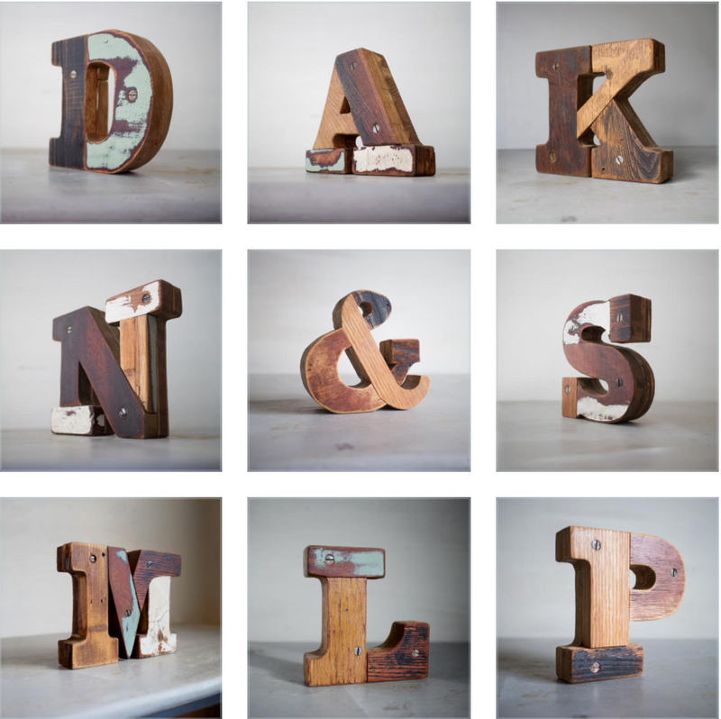 Large Wooden Letters