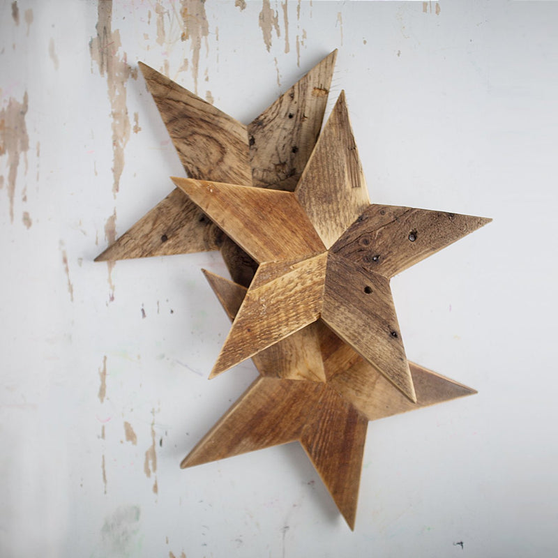 pallet wood rustic star