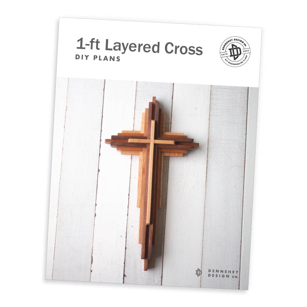 One-Foot-Tall Layered Cross Project Plans