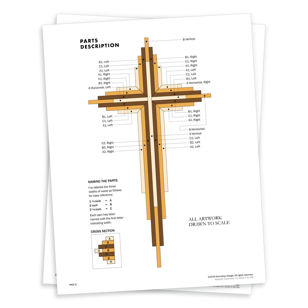15-inch Wood Cross Project Plans