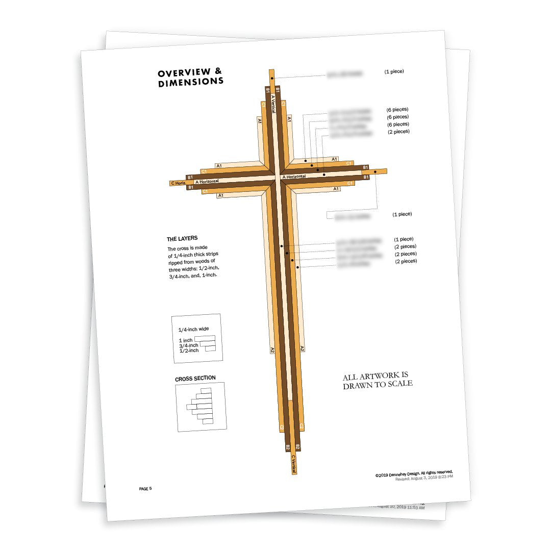 DIY 20-inch Wooden Cross Plans