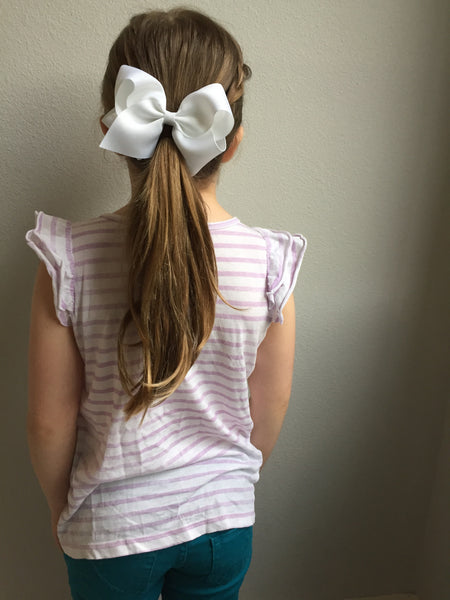 Extra Large Metal Grey Hair Bow