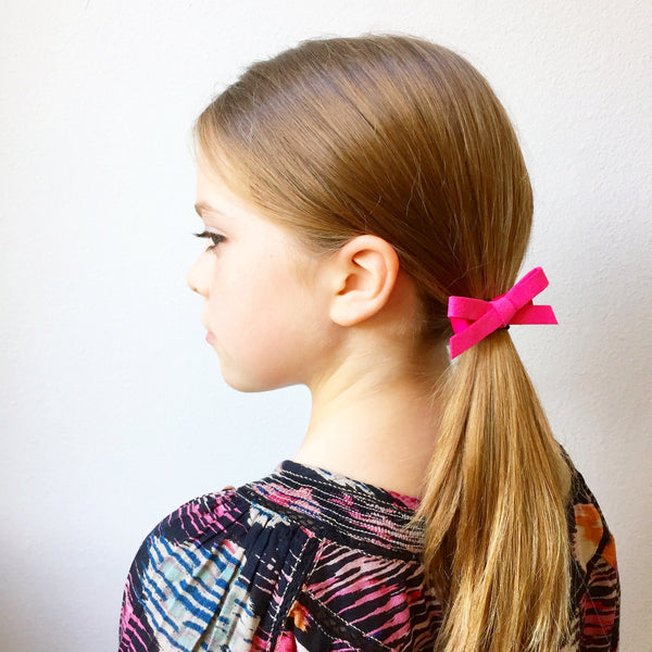 Suede Schoolgirl Bows 3 Set Autumn