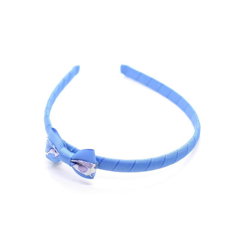 Blue Small Bow Headband - Liberty Betsy Blue