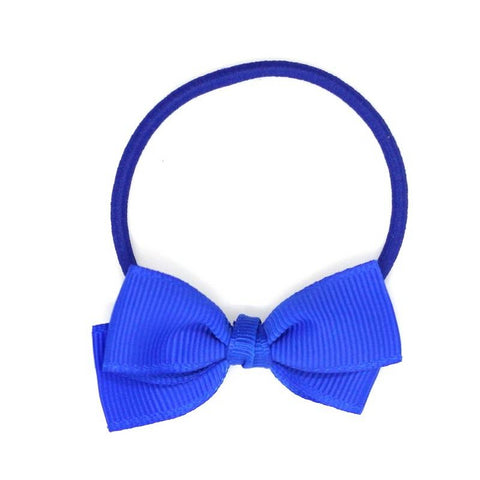 Small Bow Elastic - Electric Blue