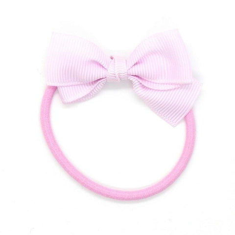 Small Bow Elastic - Pastel Pink