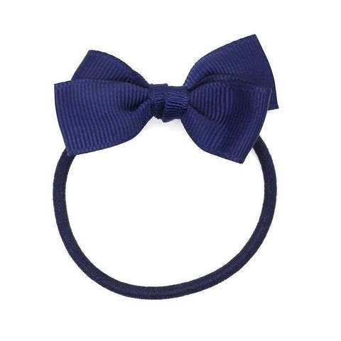 Small Bow Elastic - Navy Blue