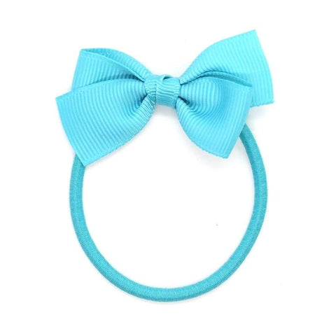 Small Bow Elastic - Misty Turquoise