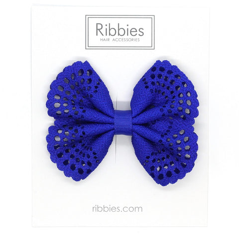 Eyelet Bow Electric Blue