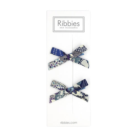 Liberty of London Schoolgirl Bows - Mauvey Blue