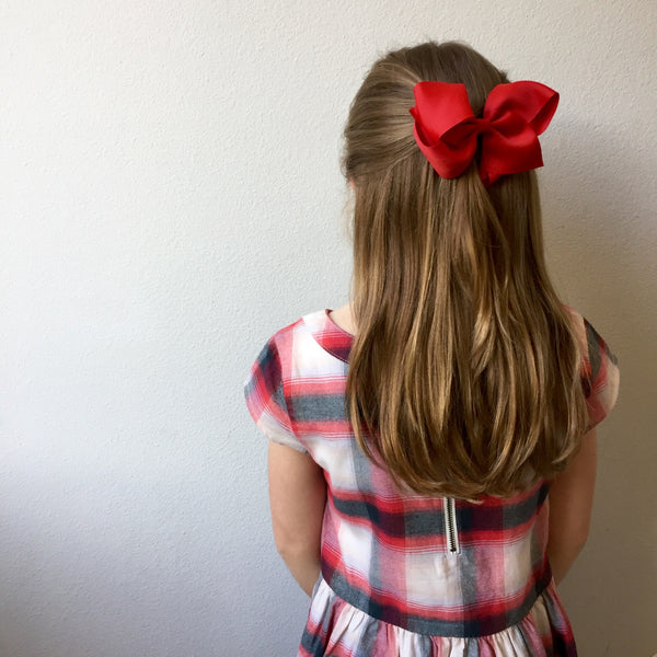 Extra Large Navy Hair Bow