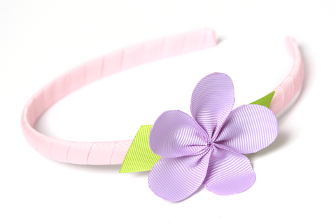 Allie Petal Headband Pink with Lavender Flower