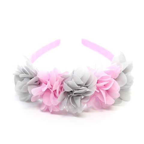 Flower Crown - Light Pink and Light Grey