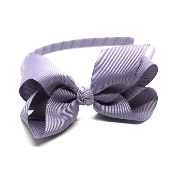 Bow Headband Pale Grey Blue