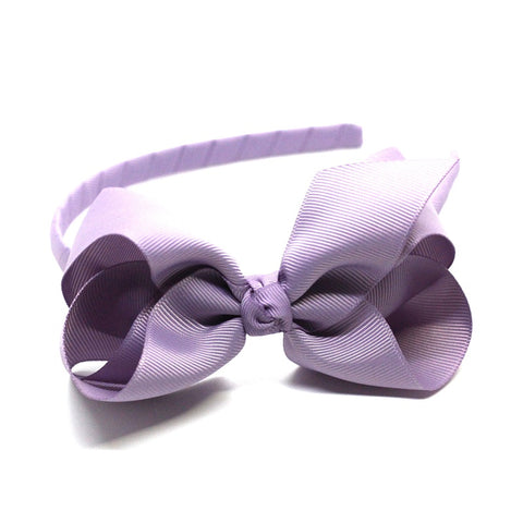 Bow Headband Light Purple
