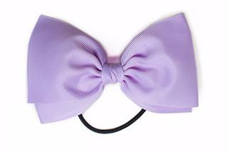 Large Bow Elastic - Light Purple