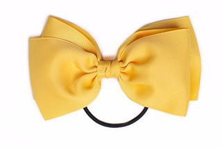 Large Bow Elastic - Yellow Gold