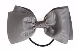 Large Bow Elastic - Grey