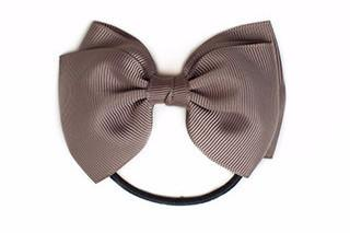 Medium Bow Elastic - Chocolate Chip