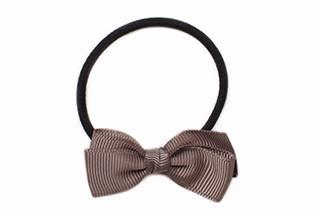 Small Bow Elastic - Chocolate Chip