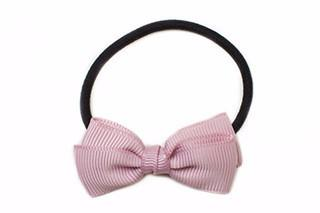 Small Bow Elastic - Quartz Pink on Pink Elastic