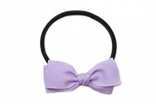 Small Bow Elastic - Light Purple